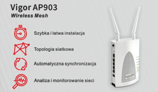 Vigor AP903 –nowa odsłona Access Pointa zfunkcją Mesh